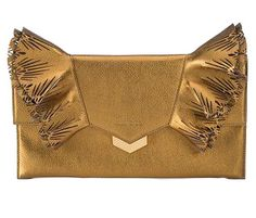 Jimmy Choo Isabella Laser-Cut Ruffled Clutch Bag $1,195 NEIMANMARCUS.COM