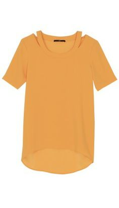 LOVE the marigold color and the cutout details