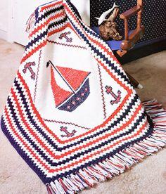 Vintage Crochet Patterns & Knit Patterns by PearlShoreCat on Etsy Vintage Crochet Patterns, Crochet Blanket Patterns, Baby Blanket Crochet, Crochet Baby, Afghan Blanket, Knit Patterns, Nautical Crochet, Nautical Baby, Crochet Wall Art