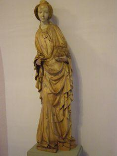 Master of Madonna from Lomnička (or his workshop), Saint Dorothy, 1410-1420 | Flickr - Photo Sharing!