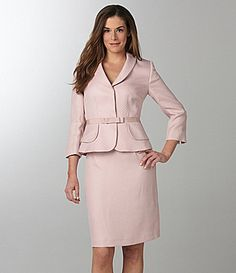 Pink Tahari Skirted Suit