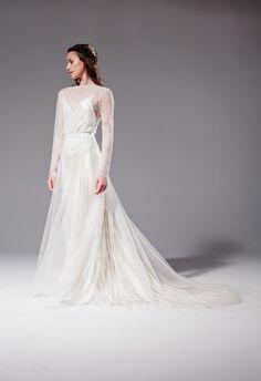 Lucille tulle over-skirt with Misty lace bodice over Elsa - Sabina Motasem Simple Elegant Dresses, Elsa Dress, Lace Bodice, Bridal Boutique, One Shoulder Wedding Dress, Tulle, Satin, Bride, Wedding Dresses