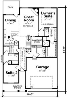 Plan No.156761 House Plans by WestHomePlanners.com