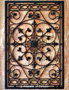 Tuscan Wall Decor Iron Grille I Would Need 2 To Use On Its