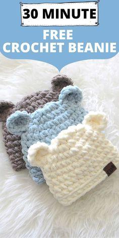 Crocheted Baby Hats, Crochet Baby Hats Free Pattern, Crochet Baby Clothes Boy, Crochet Baby Boy Hat, Crochet Animal Hats, Crochet Hats For Boys, Free Baby Blanket Patterns, Crochet Bebe, Cute Crochet