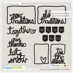 Free Daily December cutting files from Kami at the Ziggle Designs blog