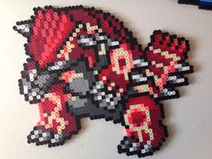 Primal Groudon - Pokemon Perler Sprite by Toriroz