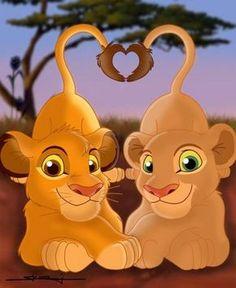 Simba & Nala - The Lion King Fan Art - Fanpop fanclubs Simba E Nala, Simba Rey Leon, Roi Lion Simba, Nala Lion King, The Lion King, Lion King Fan Art, Lion King Movie, Le Roi Lion, Simba Disney