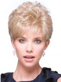 Durable Blonde Curly Short Hair Falls & Half, Half Wig Usa Long Wigs, Short Wigs, Curly Wigs, Short Curly Hair, Short Hair Styles, Wig Stand, Cool Blonde, Half Wigs, Synthetic Wigs