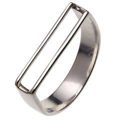 Buy Jessie Harris U Shape Ring, Silver Online at johnlewis.com