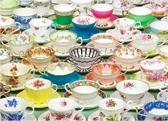 cup & saucer stands needed in this sea of collectibles!