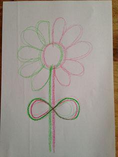 Schrijfdans bloem: ronden en achten Art Drawings For Kids, Art For Kids, Easy Coloring Pages, Art Area, Brain Gym, Drawing Lessons, Preschool Art, Sensory Activities, Cool Pictures