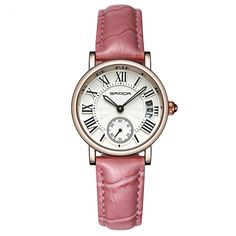 SANDA Trendy Quartz Watches Round Dial Roman Numeral Simple Leather Band Watches for Women is hot-sale, waterproof watches, bracelet watch, and more other cheap women watches are provided on NewChic. Fancy Watches, Rose Gold Watches, Quartz Watches, Women's Watches, Leather Watch Bands, Leather Cuffs, Fashion Watches, Bracelet Watch, Women Accessories