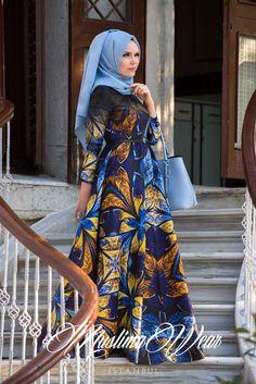 Muslima Wear 2015 Butterfly Flower TWILL Dress