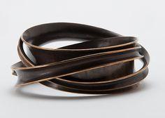 Triple Wrapper Bangle Bracelet by Nancy Linkin: Bronze Bracelet available at www.artfulhome.com