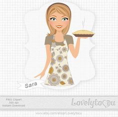 Baking pies for thanksgiving baker girl digital PNG by Lovelytocu Cartoon Cupcakes, Thanksgiving Pies, No Bake Pies, Baking Pies, Girly, Clip Art, Disney Princess, Etsy, Digital