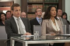 Still of Gabriel Macht and Gina Torres in Suits