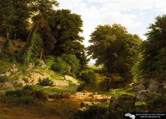 Woodland Brook - William Trost Richards - 1861  - I love this one - DETROIT  has it:)
