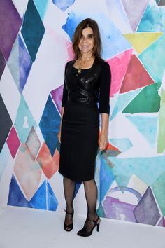 Carine Roitfeld attends the Schiaparelli Haute Couture Fall/Winter 2016-2017 show as part of Paris Fashion Week on July 4, 2016 in Paris, France.