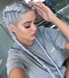 Imagen de hair, braid, and adidas