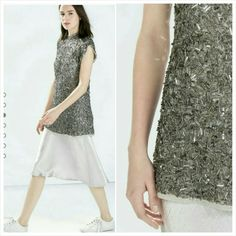 ZARA HAND MADE Regal Beaded Embellished Long Top Wardrobe staple!!   Hand made.  Beautifully beaded detailed long top.  Dress it up or dress it down!  More beautiful in person, awesome quality!!  Color:  only one Zara Tops