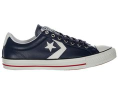 Converse Star Player Ev Ox Navy White Leather Converse Star Player EV Ox  Navy White Leather Trainers Colourway b862341af