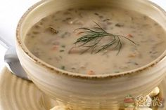 Receita de Chowder de mariscos da Nova Inglaterra em receitas de crustaceos, veja essa e outras receitas aqui!
