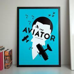 Aviator B2 poster by JerzySkakunHomework on Etsy, €50.00