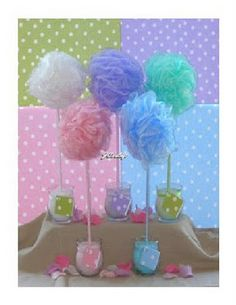 Body sponge + dowel rod = Fun Favor for a baby or bridal shower