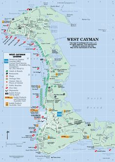 Map Of West Grand Cayman The Islands Love That My Dolphin Point Is Marked At Nw