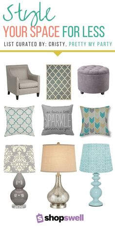 Looking for chic furniture for your new home or apartment? Cristy, blogger of Pretty my Party, shares her favorite budget-friendly finds in this home decor collection.
