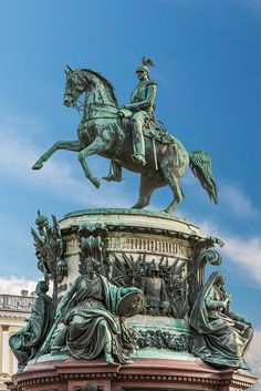 Monument to Nikolay I in Saint-Petersburg Equestrian Statue, Peter The Great, Historical Monuments, Petersburg Russia, City Landscape, Street Art, Illustration Art, Fine Art, Lyon