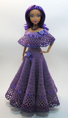 ru - Играем в куклы: Багира: Мои куклы PlayDolls.ru - Играем в куклы: Багира: Мои куклы Crochet Doll Dress, Crochet Barbie Clothes, Knitted Dolls, Crochet Jumper, Free Crochet, Barbie Clothes Patterns, Clothing Patterns, Barbie Dress, Barbie Doll