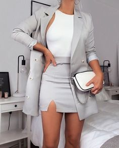💙 Get free feedback on your own looks Street Style Outfits, Cute Fall Outfits, Cute Casual Outfits, Business Casual Outfits, Summer Outfits, Formal Outfits, Rock Outfits, Street Style Trends, Professional Outfits