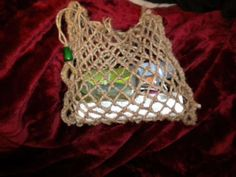 Crafts To Sell, Fun Crafts, Diy And Crafts, Selling Crafts, Diy Net Bags, Net Making, Crochet Market Bag, Ideias Diy, La Red