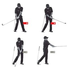 If your shots end up right of the target, your intuition tells you to swing more to the left. The most common way to do that is to hang back on your right foot and scoop the clubhead at the ball with your hands. But guess what? You just made your weak slice worse. To swing down from the inside, which will help straighten your slice, you have to shift your weight forward. Solution: separate from the shaft. Stick a shaft or similar object in the ground, and address a ball so the shaft is…