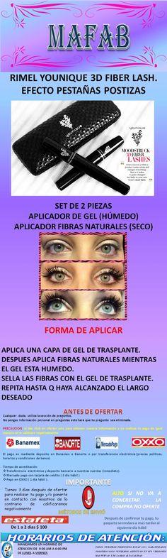 Younique Rimel 3d Fiber Alargador Y Volumen Diseña Tus Ojos - $ 140.00