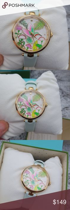 NWT Kate Spade Hummingbird Holland Mint Watch This is the Kate Spade hummingbird Holland mint leather watch. This is new with tags and of course has never been worn or used. This purchase will come with an official Kate Spade box. This product is absolutely authentic. kate spade Accessories Watches