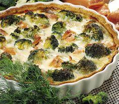 Sprød lakse-broccoli-tærte