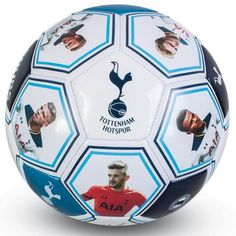 Metallic looking Tottenham Hotspur football featuring the club crest and printed player photos and signatures. FREE DELIVERY on all of our football gifts Photo Signature, Football Kits, Sport Football, Tottenham Hotspur Football, Spurs Fans, Sport Online, Online Gifts, Soccer Ball, Prints