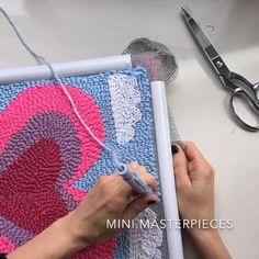 Top 40 Beispiele für Büttenpapier-Events - Everything About Kindergarten Hand Embroidery Videos, Hand Embroidery Stitches, Crewel Embroidery, Cross Stitch Embroidery, Embroidery Designs, Embroidery Kits, Punch Needle Patterns, Elmer's Glue, Tips And Tricks