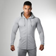 bba98212f8f3a4 Gymshark Ark Zip Hoodie - Light Grey Marl