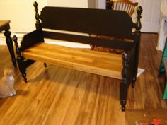 Bench Made From Bed Frame Furniture Pinterest Bed