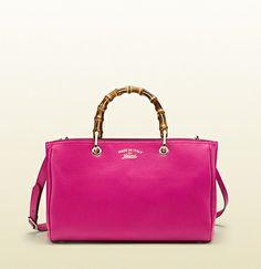 borsa-shopping-bamboo-in-pelle-fucsia-1490-euro  #borse #bags #springsummer #springsummer2014 #primaveraestate #primaveraestate2014 #purses #borsa #gucci #bamboo