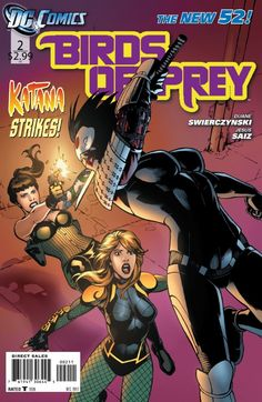 Birds of Prey by Duane Swierczynski and Jesus Saiz. Recently relaunched, Swierczynski (Immortal Iron Fist) may have created a worthy heir to the Secret Six's mantle of a story about a group of anti-heroes trying to do good despite themselves. The Black Canary, a martial artist who can scream your head off, literally. Starling, an amoral spy. Poison Ivy, a sociopathic ecoterrorist. And Katana, a woman samurai who believes her dead husband's soul lives inside her sword. Not sure who is…