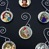 Make Your Own Photo Bottle Cap Christmas Ornaments Kit 6