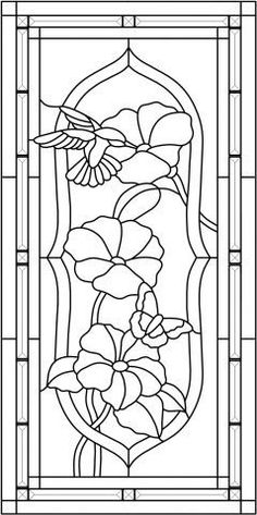 Hummer & butterfly - Stained Glass - PATTERNS - Gallery - Stained Glass Town Square #StainedGlassButterfly