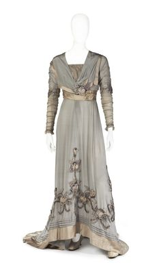 Dress ca. 1910  From the Royal Armory and Hallwyl Museum  - See more at: http://fripperiesandfobs.tumblr.com/post/57448096699/dress-ca-1910-from-the-royal-armory-and-hallwyl