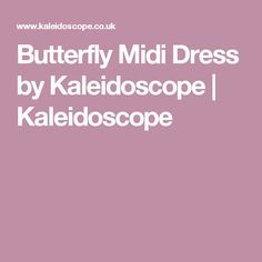 Butterfly Midi Dress by Kaleidoscope | Kaleidoscope
