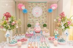 Little Bird Baby Shower Ideas and Shops. Inspirational Photos and Decoration Ideas and Supplies for a Memorable Little Bird baby Shower! Baby Birthday, Birthday Parties, Candy Bar Comunion, Christening Party, Bird Party, Ballerina Party, Little Birds, Baby Shower Decorations, Party Planning